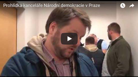 Unikátní policejní video odtajněno: Podívejte se, jak probíhala policejní prohlídka v sídle Národní demokracie (video)