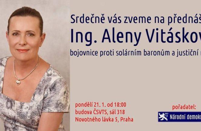 Alena Vitásková: Můj nerovný boj s mafií (přednáška a debata)