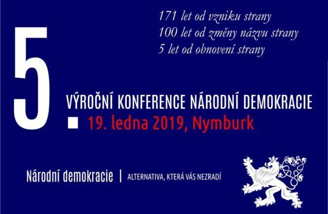 5. výroční konference Národní demokracie - 19. ledna 2019, Nymburk