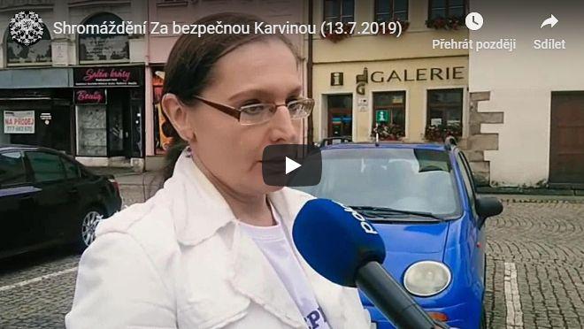 Shromáždění Za bezpečnou Karvinou (videoreportáž)
