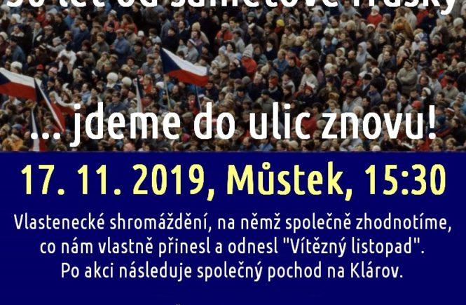 Národní demokracie si opět připomene 17. listopad v ulicích