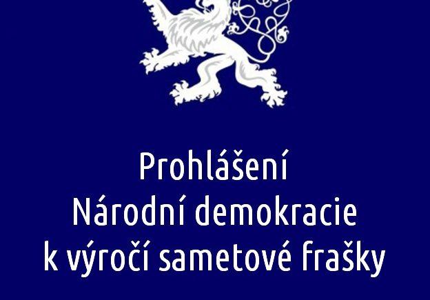 Prohlášení Národní demokracie k výročí sametové frašky