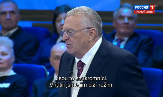 Národní demokracie se distancuje od výroků V. Žirinovského