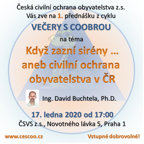 Večery s COOBROU: Doporučujeme dvě přednášky o civilní ochraně